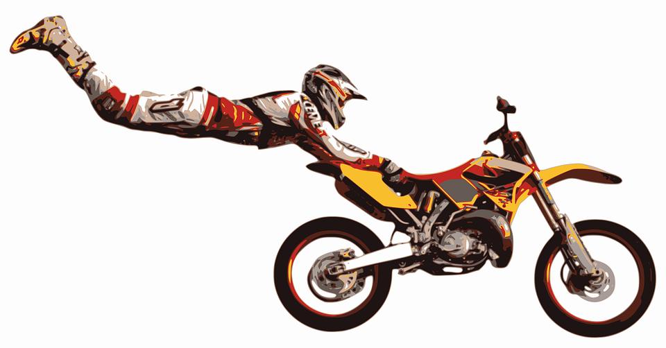motocross stuntman