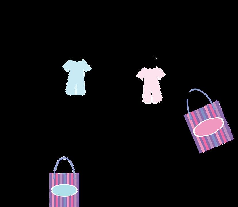to kvinder med babytøj